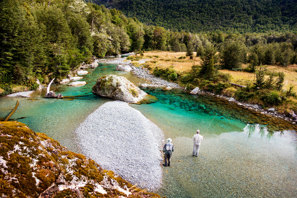 Fly fishing in Queenstown, NZ